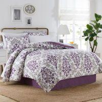 Carina 6-8 Piece Comforter Set in Purple - Bed Bath & Beyond