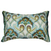 Buy Kas Australia Pushkar Oblong Throw Pillow in Teal from ...