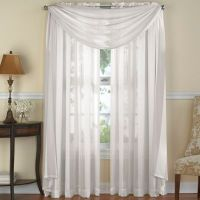 Venetian Stripe Window Scarf Valance in White - www ...