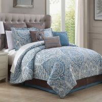 Donatella 9-Piece Comforter Set in Light Blue - Bed Bath ...