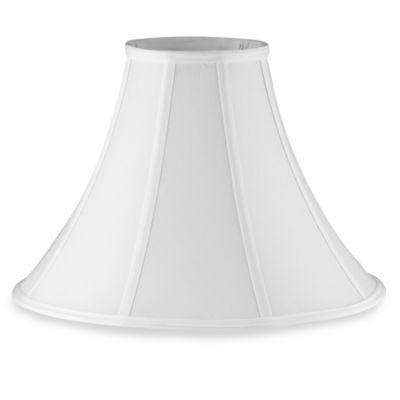 Mix Match Large 16 Inch Bell Lamp Shade In White Bed