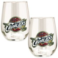 NBA Cleveland Cavaliers Stemless Wine Glass (Set of 2 ...