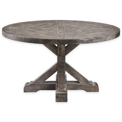 Stein World Bridgeport Round Cocktail Table In Weathered