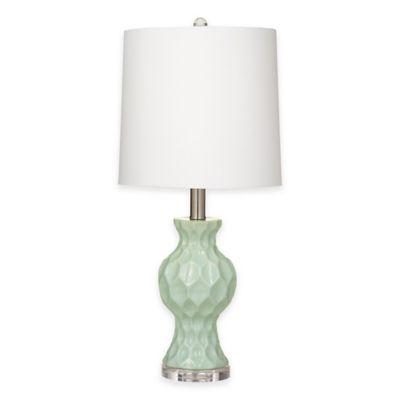 Buy Bassett Mirror Company Staley Table Lamp in Aqua Blue