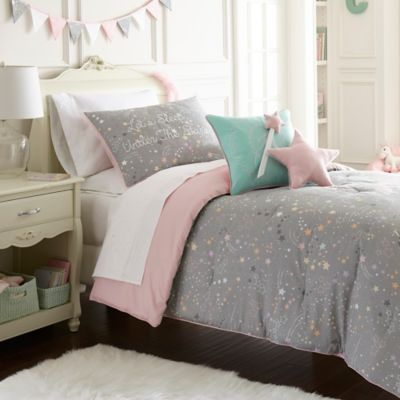 Pretty Wallpaper For Girls Bedroom Frank And Lulu Star Light Comforter Set Bed Bath Amp Beyond