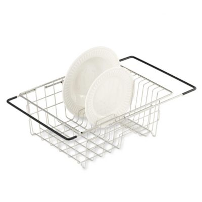 Polderr Expandable Over The Sink Stainless Steel Dish