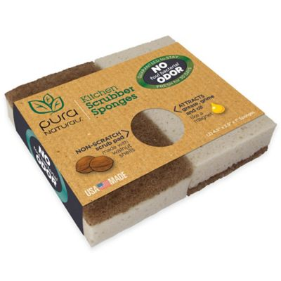Buy Pura Naturalstm 2 Pack Kitchen Scrubber Sponges From