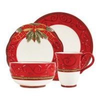 Fitz and Floyd Damask Holiday Dinnerware Collection - Bed ...