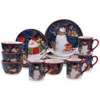 Certified International Snowy Night Snowman Dinnerware and ...