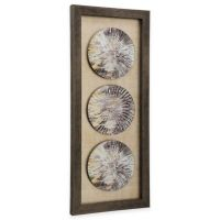StyleCraft Trio of Weathered Plates Framed Wall Art - Bed ...