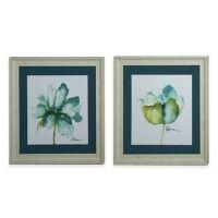 StyleCraft Floral Blue Green Framed Print Wall Art - www ...