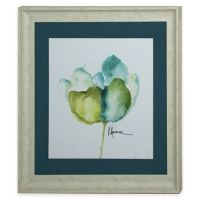 Buy StyleCraft Floral Blue Green I Framed Print Wall Art ...