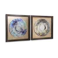 StyleCraft Mirrored Weathered Plate Framed Wall Art (Set ...