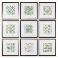 Uttermost Metrics Links 9-Piece Geometric Wall Art Prints ...