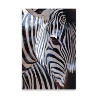 Zebra Stripes Embellished Canvas Wall Art - Bed Bath & Beyond