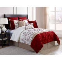 VCNY Prairie 9-Piece Comforter Set in Red/Ivory - Bed Bath ...