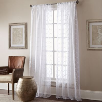 Manhattan Sheer Rod Pocket Window Curtain Panel Bed Bath