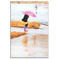 Buy Pink Umbrella Watercolor Metal Wall Art in Pastels ...
