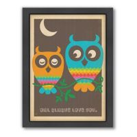 Buy Mod Owls Framed Wall Art by Anderson Design Group from
