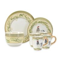 Pfaltzgraff Country Cottage 16-Piece Dinnerware Set - Bed ...