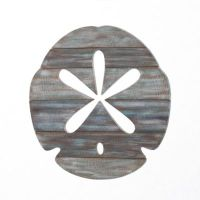 Buy Sand Dollar Slatwood Panel Wall Art in Weathered Ivory ...
