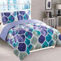 Emmi Comforter Set in Purple/Teal - Bed Bath & Beyond