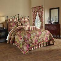 Waverly Floral Flourish Cordial Reversible 4-Piece ...
