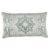 Callisto Home Tile Floral Throw Pillow in Crme/Aqua - Bed ...
