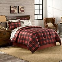 Mesa Comforter Set in Red/Black - Bed Bath & Beyond