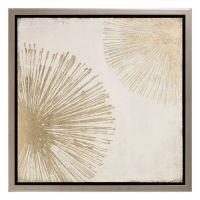 Metallic Sunburst Canvas Wall Art - Bed Bath & Beyond