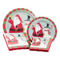 Assorted Paper Christmas Tableware Kit in Fiddlestix ...