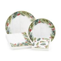 Assorted Paper Christmas Tableware Kit in Winter Frost ...