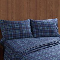 Buy Remington Twin Moose and Canoe Plaid Sheet Set in ...