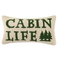 Buy Lodge Hook Rectangle Cabin Life Throw Pillow in Green ...