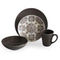 Buy Baum Medallion 16-Piece Dinnerware Set in Taupe from ...