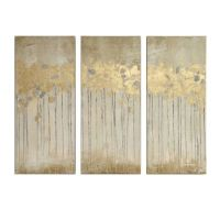 Madison Park Sandy Forest Gel Coat Canvas with Gold Foil ...