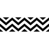 Buy Sweet Jojo Designs Chevron Wallpaper Border in Black ...
