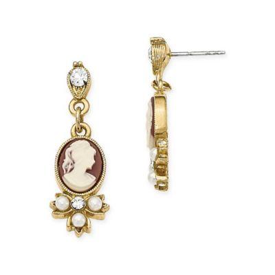 Buy Downton Abbey Cameo Dangle Earrings from Bed Bath