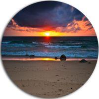 Design Art Dramatic Colorful Sky Over Beach LargeSeashore ...