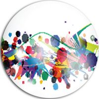 Design Art Colorful Circles and Shapes Disc LargeAbstract ...