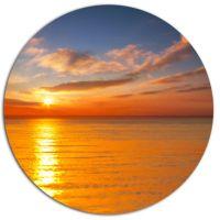 Design Art Beautiful Sunset Reflecting in Sea Large ...