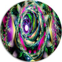 Design Art Colorful Exotic Whirlpool Flower FloralRound ...