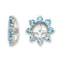 Genuine Swiss Blue Topaz Sterling Silver Earring Jackets ...
