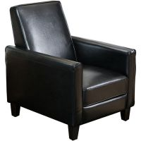 Darvis Bonded Leather Reclining Club Chair