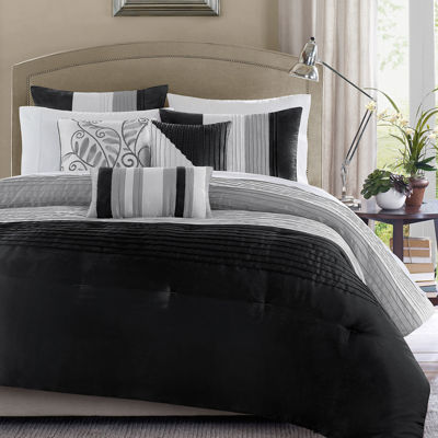 Black White And Grey Duvet Covers 675716382667 Upc Madison Park Amherst Comforter Set
