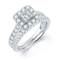 Modern Bride Signature 2 CT. T.W. Diamond 14K White Gold ...