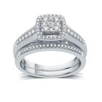 I Said Yes Womens 3/8 CT TW White Diamond Platinaire ...