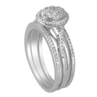I Said Yes Womens 3/8 CT. T.W. Genuine Round White Diamond