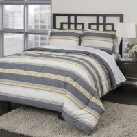 BUY Republic Neutral Stripe Comforter Set OFFER | Bedding ...