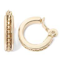 Monet Monet Goldtone Hoop Clip Earrings